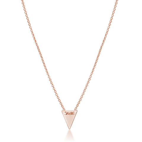 Arrow Head Necklace - Rose Gold - Zaffre Jewellery - 1