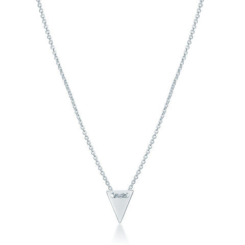 Arrow Head Necklace - Silver - Zaffre Jewellery - 1