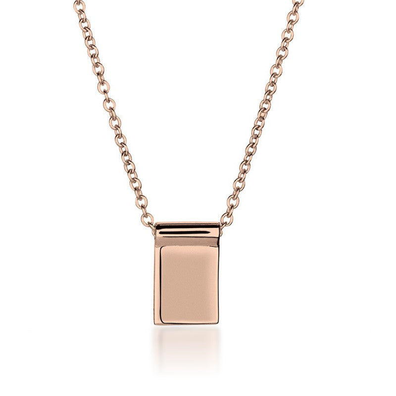 Silver necklaces shop for silver necklaces online zaffre rose gold bar necklace long 70cm zaffre jewellery 1 mozeypictures Images