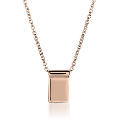 Rose Gold Bar Necklace - Long 70cm - Zaffre Jewellery - 1