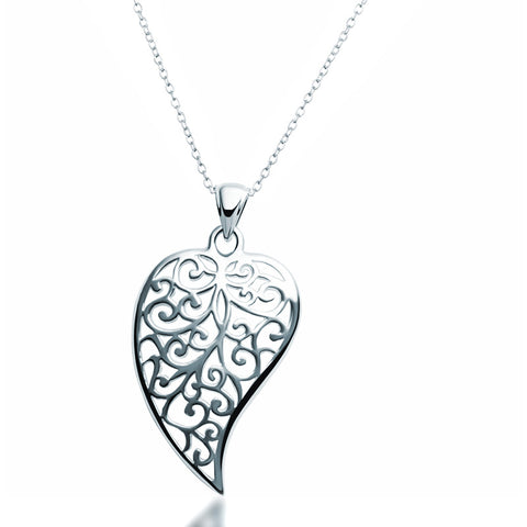Filigree Leaf Necklace - Zaffre Jewellery - 1