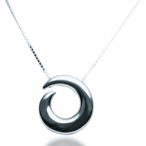 Spiral Pendant Necklace - Zaffre Jewellery - 1