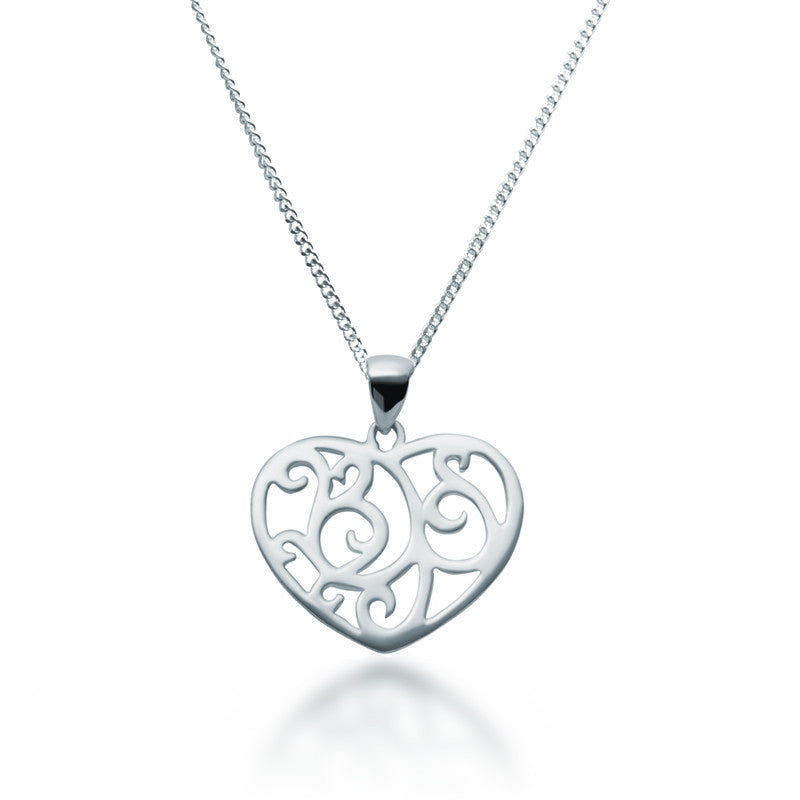 Sterling silver filigree heart necklace zaffre jewellery australia filigree heart pendant necklace zaffre jewellery 1 aloadofball Gallery