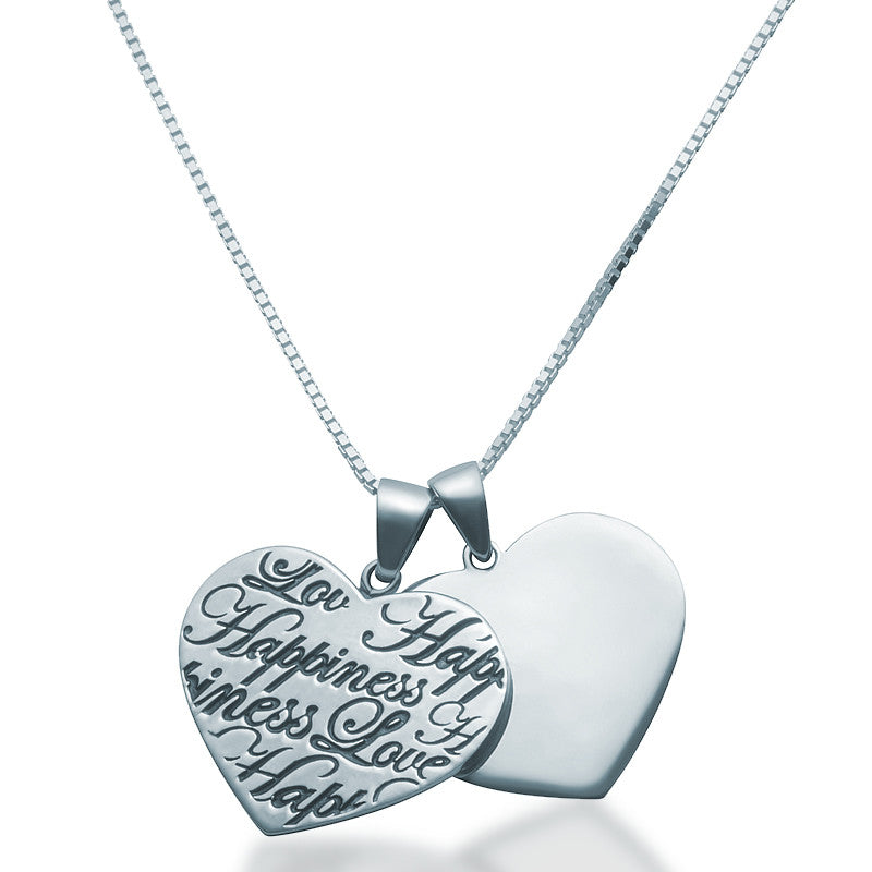 Two hearts pendant necklace zaffre silver jewellery australia two hearts pendant necklace zaffre jewellery 1 mozeypictures Images