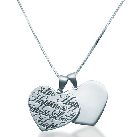 Two Hearts Pendant Necklace - Zaffre Jewellery - 1