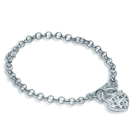 Filigree Heart Bracelet - Zaffre Jewellery - 1