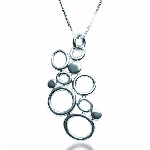 Silver Bubbles Necklace - Zaffre Jewellery - 1