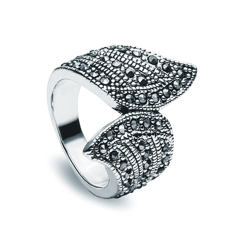 Jet Crystal Ring - Elegant - Zaffre Jewellery - 1
