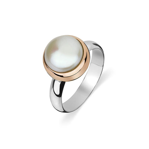 Mabe Pearl Ring - Rose - Zaffre Jewellery - 1