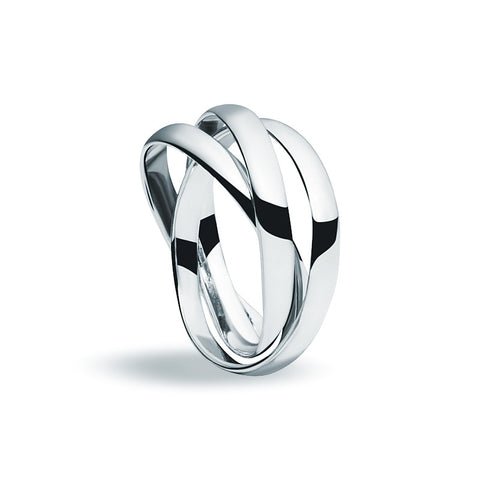 Silver Trio Ring - Zaffre Jewellery - 1