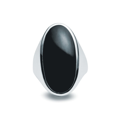 Onyx & Silver Ring - Zaffre Jewellery - 1