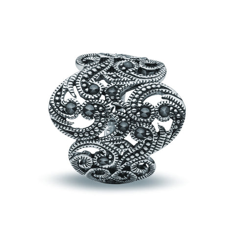 Jet Crystal Ring - Marquise - Zaffre Jewellery - 1