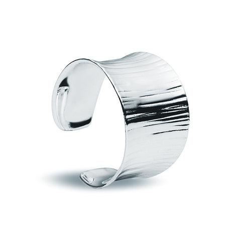 Silver Wood Ring - Zaffre Jewellery - 1