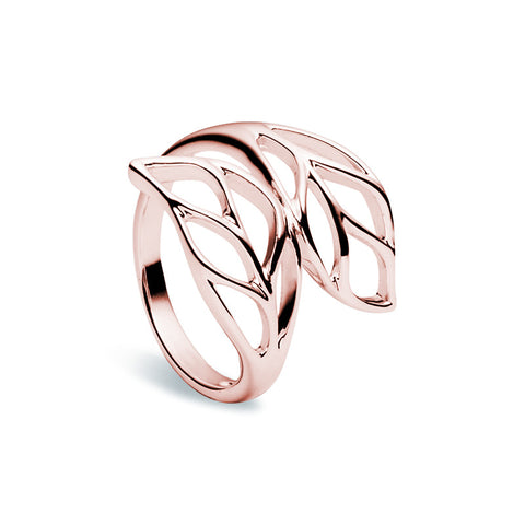 Summer Leaf Ring - Rose Gold - Zaffre Jewellery - 1