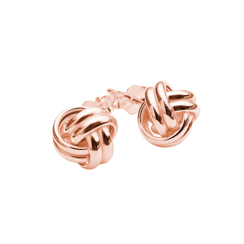 Knot Studs - Rose Gold