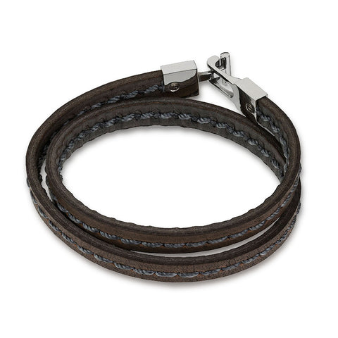Blaze Leather Bracelet Mk12 - Zaffre Jewellery - 1