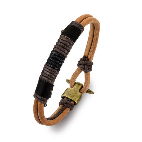 Blaze Leather Bracelet Mk10 - Zaffre Jewellery - 1
