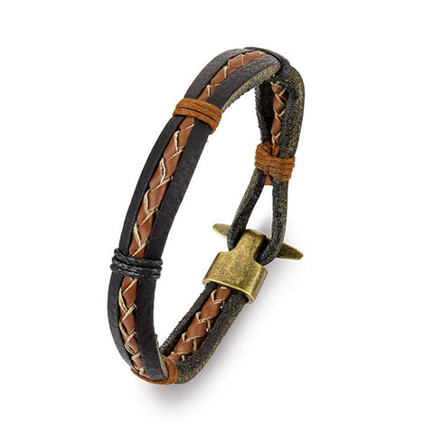 Blaze Leather Bracelet Mk11 - Zaffre Jewellery - 1