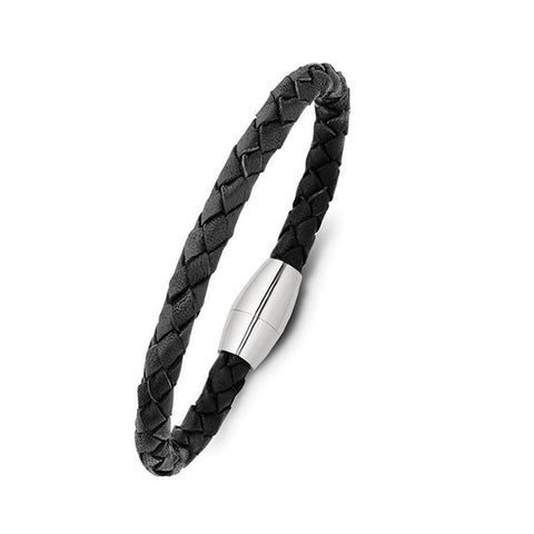 Blaze Leather Bracelet Mk3 - Black - Zaffre Jewellery - 1