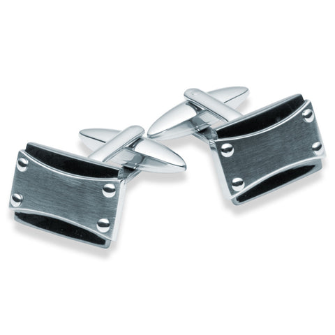 Stainless Steel Rivet Cufflinks - Zaffre Jewellery - 1