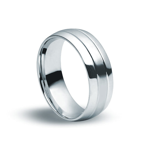 Stainless Steel Round Edged Ring - Zaffre Jewellery - 1