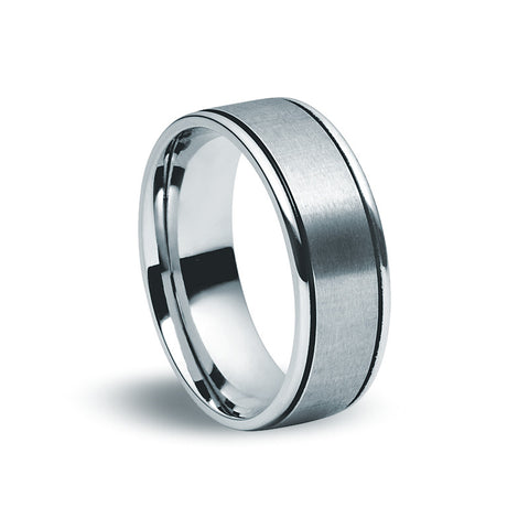 Stainless Steel Matte & Black Ring - Zaffre Jewellery - 1