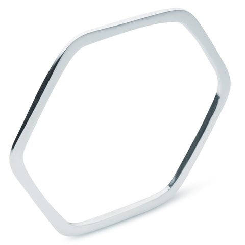 Hexagonal Bangle - Zaffre Jewellery - 1