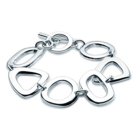 Silver Shapes Bracelet - Zaffre Jewellery