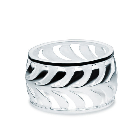 Silver Palm Ring - Zaffre Jewellery - 1