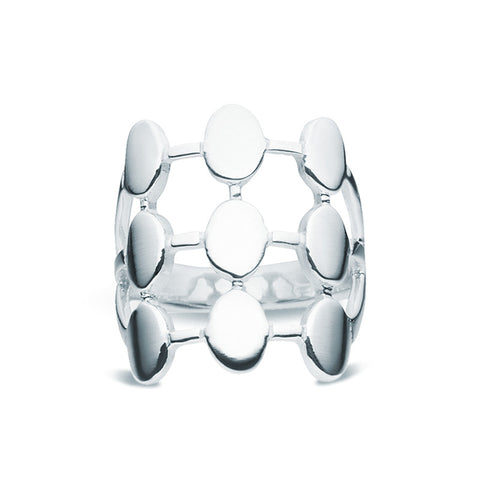 Silver Matrix Ring - Zaffre Jewellery - 1