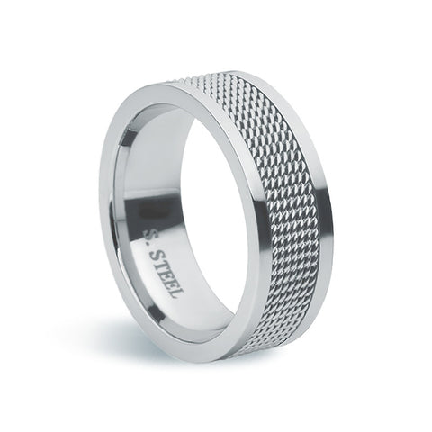 Stainless Steel & Wire Ring - Zaffre Jewellery - 1