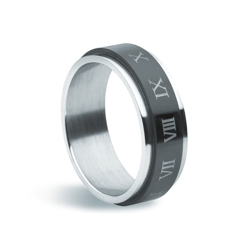 "Stainless Steel Spinning ""Numeri"" Ring - Zaffre Jewellery - 1"