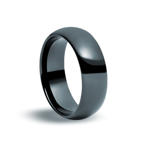 Black Tungsten Carbide - Classic Ring - Zaffre Jewellery - 1