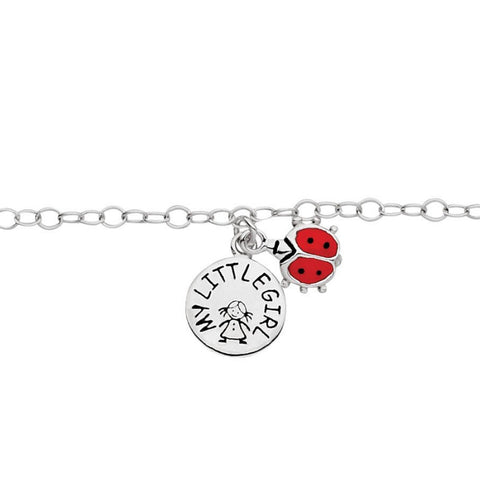 My Little Girl Bracelet - Ladybird - Zaffre Jewellery - 1