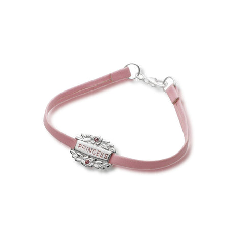 Pink Princess Bracelet - Leather - Zaffre Jewellery - 1