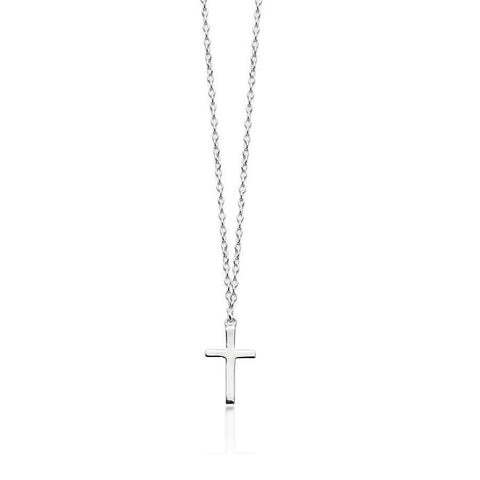 Silver Cross Necklace - Zaffre Jewellery - 1