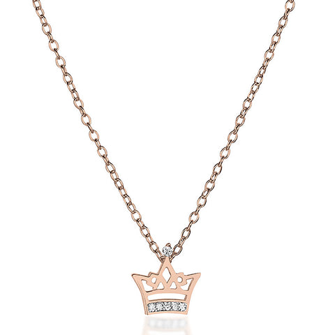 Little Crown Necklace - Rose Gold - Zaffre Jewellery - 1