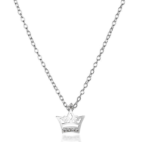 Little Crown Necklace - Silver - Zaffre Jewellery - 1