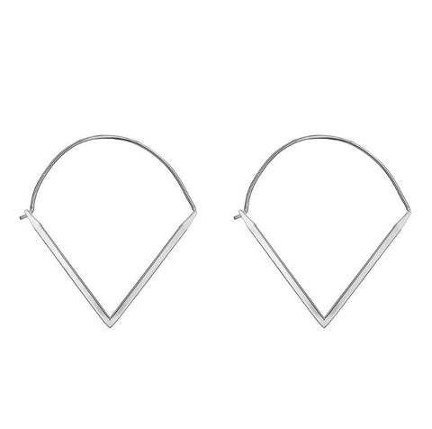 V Hoop Earrings