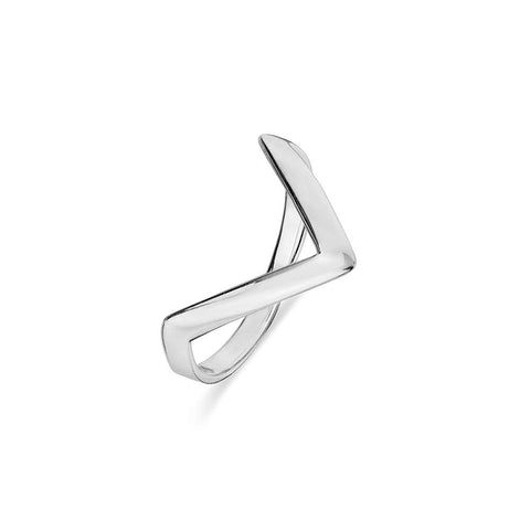 Geometric V Shape Ring