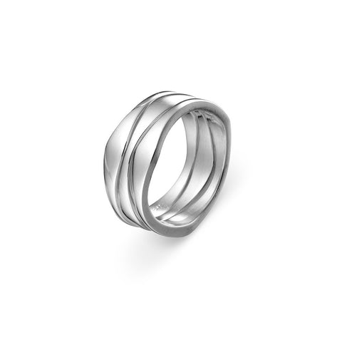 Sterling Silver 3 Band Stacking Ring