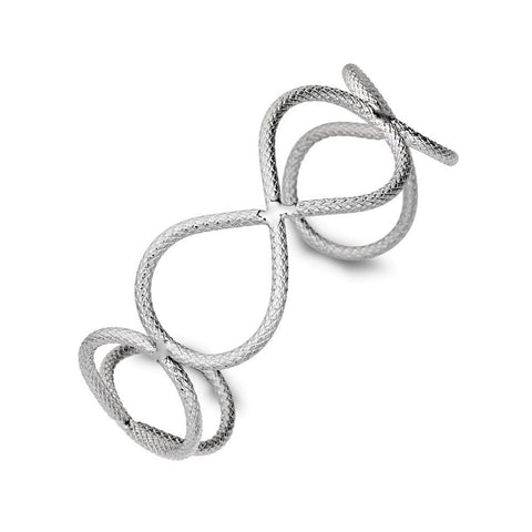 Allure Stainless Steel Ladies Infinity Cuff Bangle