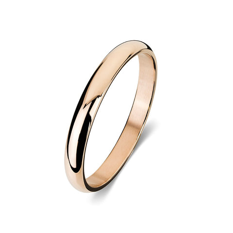 Blaze Stainless Steel Ladies IP Bangle - Rose Gold
