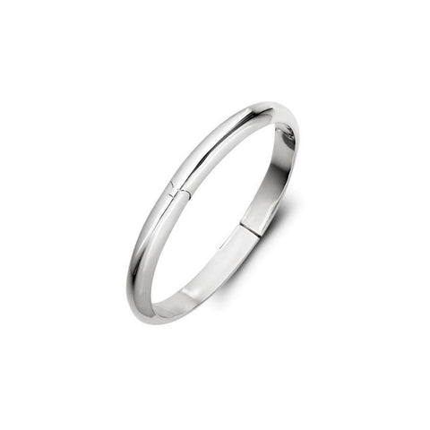 Classic Silver Children's Bangle - Zaffre Jewellery - 1