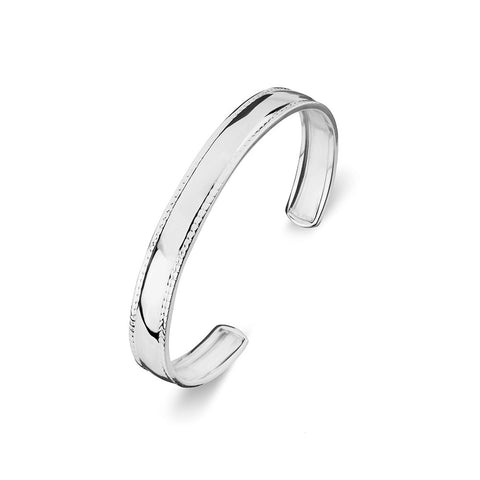 Tiny Treasures Sterling Silver ID Cuff Bangle