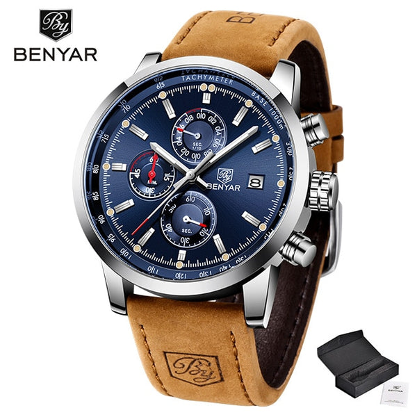 Luxury Leather Quartz Watch Fashion