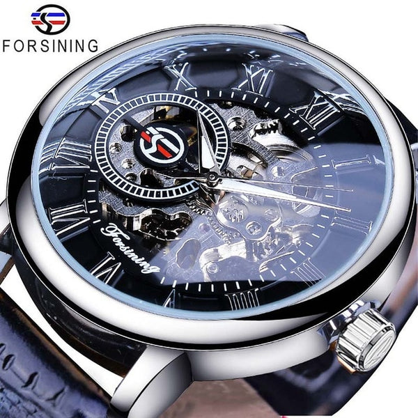 Hollow Luxury Engraving Mechanical Watch