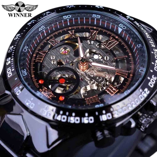 Stylish Self-Winding Stainless Steel Luxury Watch