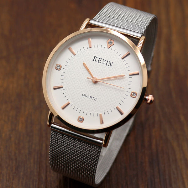 Elegant Stainless Steel Mesh Watch