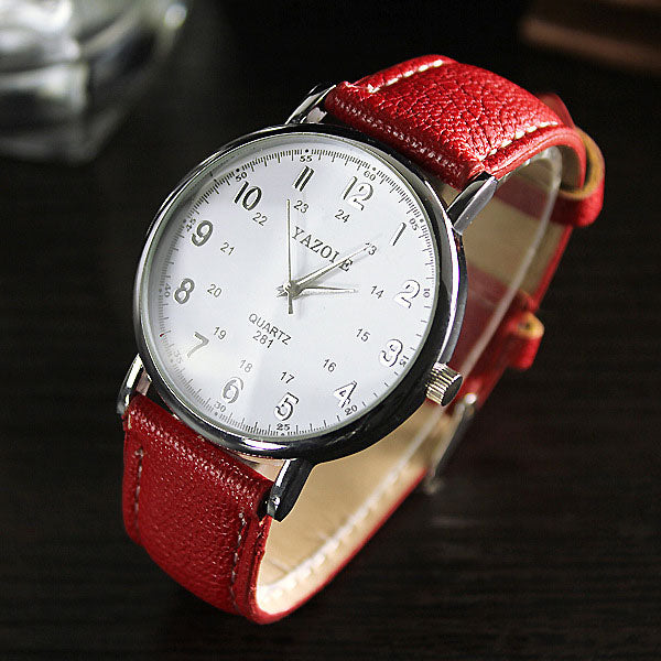 Casual Quartz Leather Wrist Watch